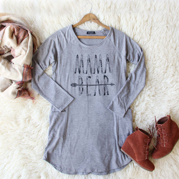 Mama Bear Cozy Dress: Featured Product Image