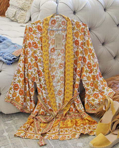 Sunset Marigold Duster: Featured Product Image