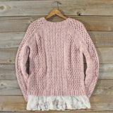 Marlow Lace Fisherman's Sweater: Alternate View #4