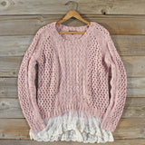 Marlow Lace Fisherman's Sweater: Alternate View #1