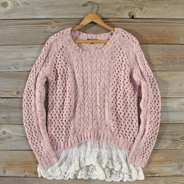 Marlow Lace Fisherman's Sweater: Featured Product Image