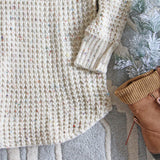 Marlow Knit Sweater Dress in Sand: Alternate View #3