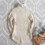 Marlow Knit Sweater Dress in Sand: Alternate View #4