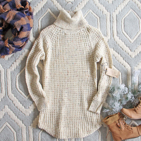 Marlow Knit Sweater Dress in Sand: Featured Product Image