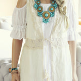 Marrakesh Lace Duster in Cream: Alternate View #2