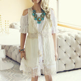 Marrakesh Lace Duster in Cream: Alternate View #1