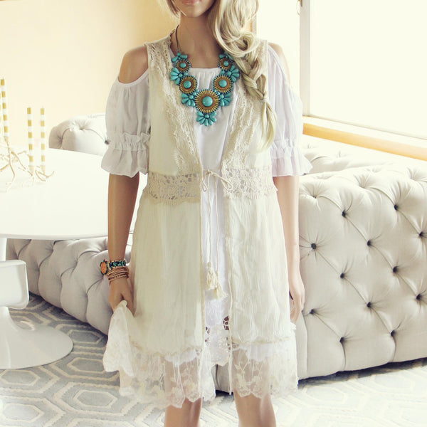 Marrakesh Lace Duster in Cream: Featured Product Image