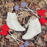 Meadow Lace Booties in Cream: Alternate View #4