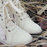 Meadow Lace Booties in Cream: Alternate View #2