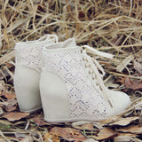 Meadow Lace Booties in Cream: Alternate View #3