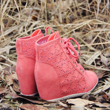 Meadow Lace Booties in Rose: Alternate View #3