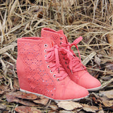 Meadow Lace Booties in Rose: Alternate View #1