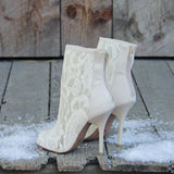 Meadowlark Lace Booties: Alternate View #3