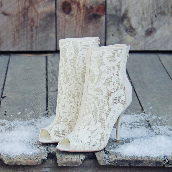 Meadowlark Lace Booties: Featured Product Image