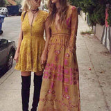 The Medallion Maxi Dress in Mustard: Alternate View #2