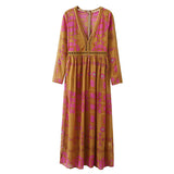 The Medallion Maxi Dress in Mustard: Alternate View #3