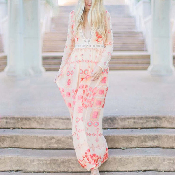 The Medallion Maxi Dress: Featured Product Image