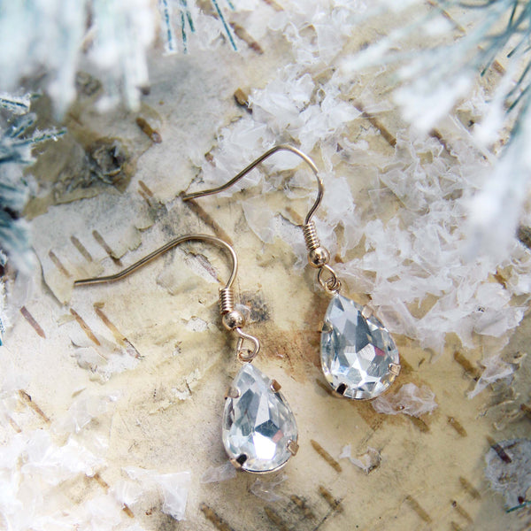 Melted Snow Earrings: Featured Product Image