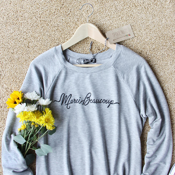 Oui Merci Sweatshirt: Featured Product Image