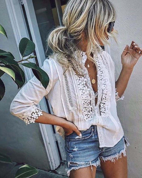 Goddess Lace Blouse: Featured Product Image