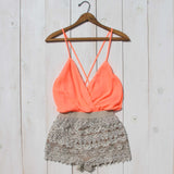 Caravan Romper in Peach: Alternate View #2