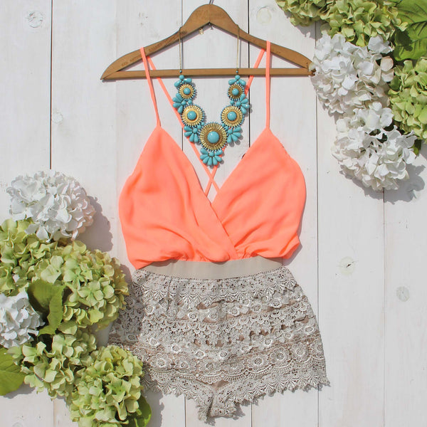 Caravan Romper in Peach: Featured Product Image