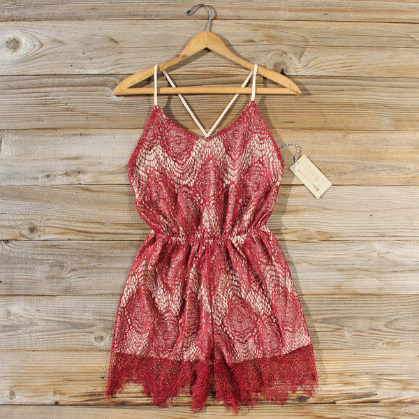 Midnight Lace Party Romper: Featured Product Image