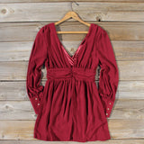 Midnight Sage Dress in Burgundy: Alternate View #4