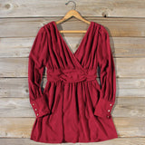 Midnight Sage Dress in Burgundy: Alternate View #1