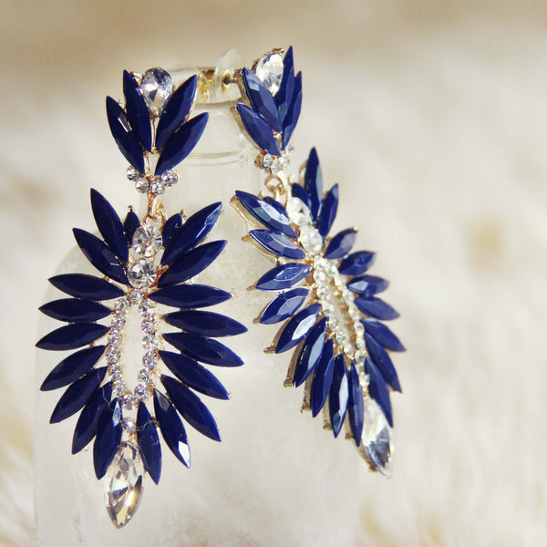 Midnight Stone Earrings: Featured Product Image