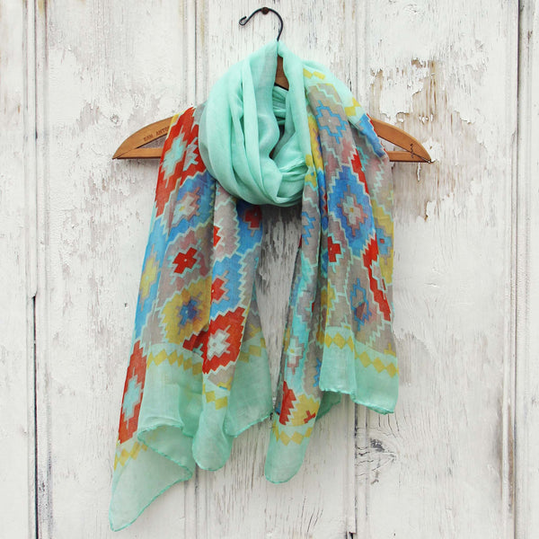 Midnight Sun Scarf in Mint: Featured Product Image