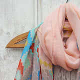 Midnight Sun Scarf in Pink: Alternate View #2