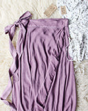 Mineral Wrap Maxi Skirt in Mauve: Alternate View #2