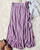 Mineral Wrap Maxi Skirt in Mauve: Alternate View #4