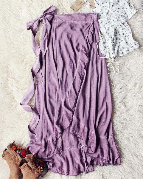 Mineral Wrap Maxi Skirt in Mauve: Featured Product Image