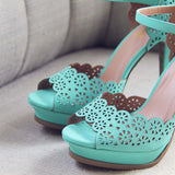 Mint Leaf Heels: Alternate View #2