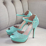 Mint Leaf Heels: Alternate View #1