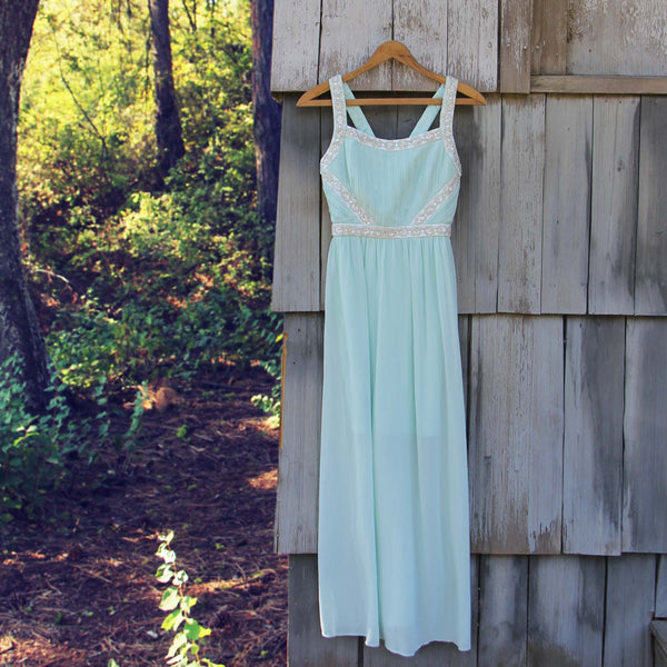 Spool Couture Mint & Snow Dress: Featured Product Image