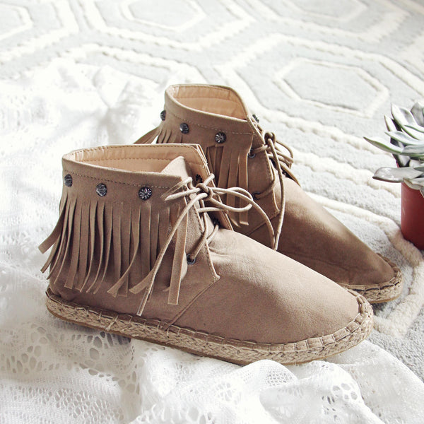 Missoula Fringe Moccasins in Sand: Featured Product Image