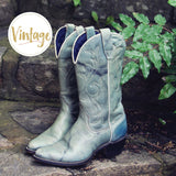 Misty Morning Vintage Cowboy Boots: Alternate View #1