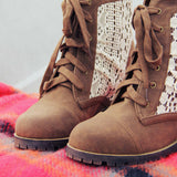 Misty Lake Lace Boots: Alternate View #2