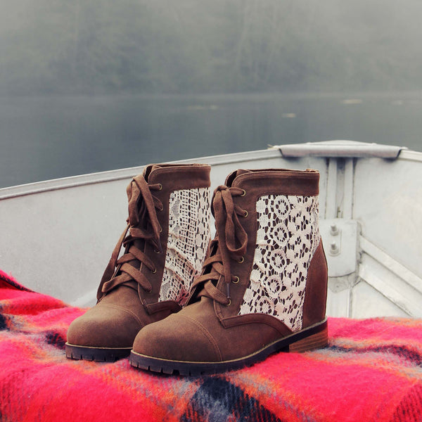 Misty Lake Lace Boots: Featured Product Image