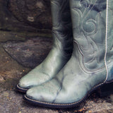 Misty Morning Vintage Cowboy Boots: Alternate View #2
