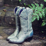 Misty Morning Vintage Cowboy Boots: Alternate View #4