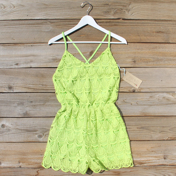 Mojito Lace Romper: Featured Product Image