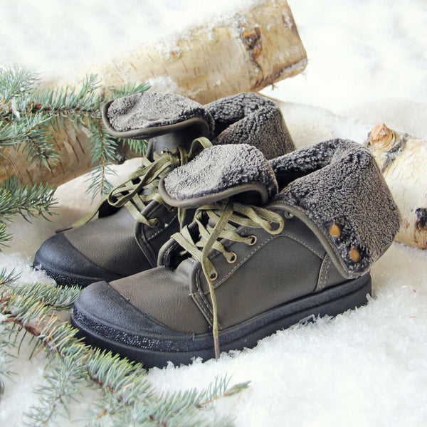 Jack Frost Booties in Sage: Featured Product Image