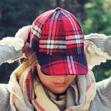 The Fireside Plaid Hat: Alternate View #1