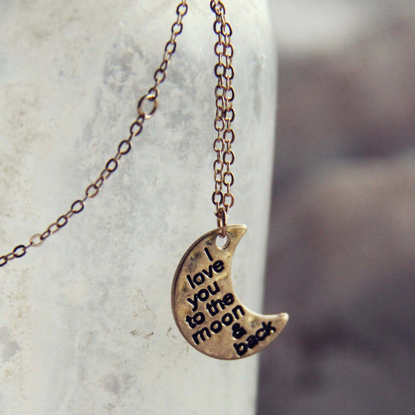 The Moon & Back Necklace: Featured Product Image