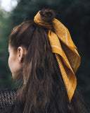 Moon Flower Bandanna in Mustard: Alternate View #2