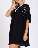 Moon & Stars Dress in Black: Alternate View #2